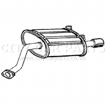 HONDA CR-V 2.0 MODELS 2001 TO 2007 EXHAUST REAR BACK BOX SILENCER TAIL PIPE